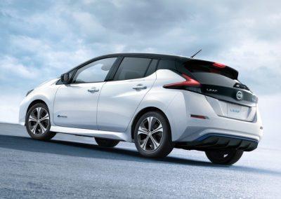 Nissan Leaf leaserijders achterkant